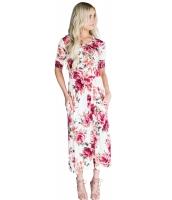 カジュアル デザインポケット ブルーミング 花柄 ドレス cc61550-3