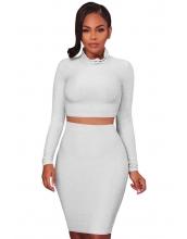 ホワイト シルバー 輝く ツーピース ドレス cc63032-1