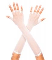 ホワイト 指なし 網 肘丈 グローブ cc73120-2